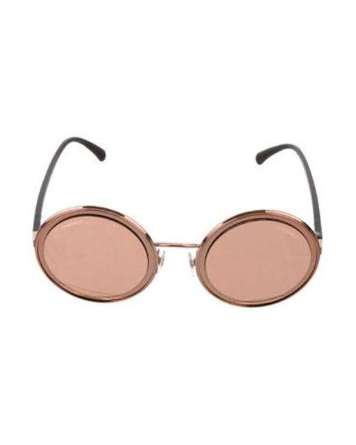 73987cc2b500 Chanel - Metallic 2017 Round Summer Sunglasses Rose - Lyst ...
