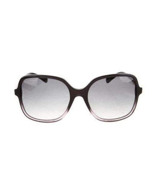 8960a403298 Chanel - Metallic Square Summer Sunglasses Black - Lyst ...
