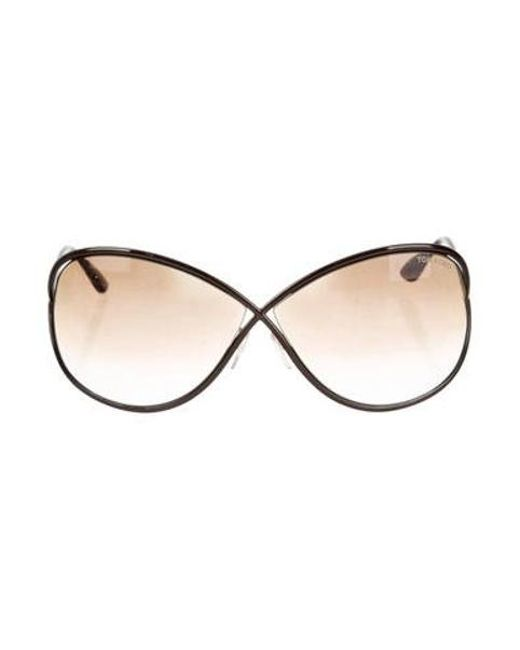 e245921757233 Tom Ford - Brown Gradient Oversize Sunglasses - Lyst ...