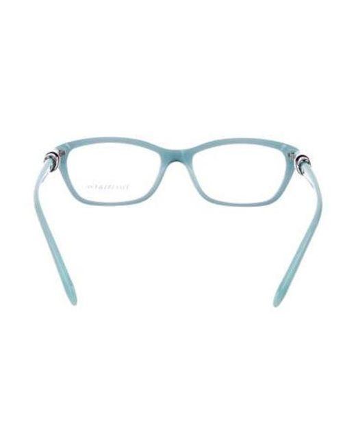 09a7e683f63 ... Lyst Tiffany   Co - Metallic Square Logo Eyeglasses Black ...