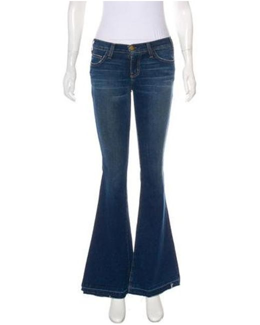 Current/Elliott - Blue The Bell Mid-rise Jeans - Lyst