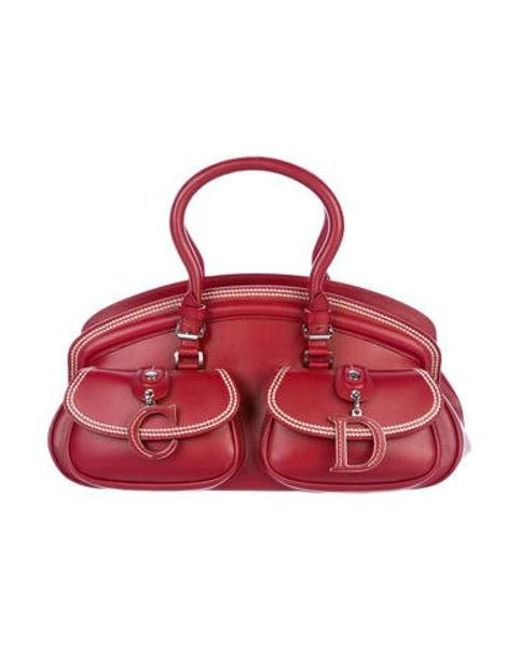 2c89c43d3d80 Dior - Metallic Leather Handle Bag Silver - Lyst ...