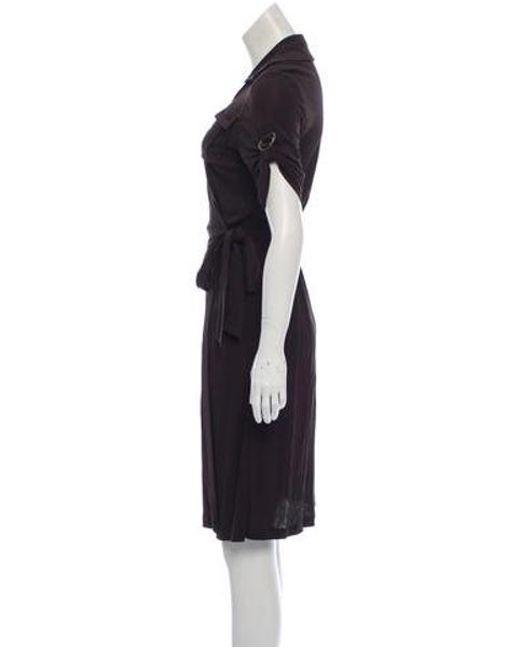 8f231c7a12 ... Diane von Furstenberg - Brown Short Sleeve Midi Dress - Lyst ...