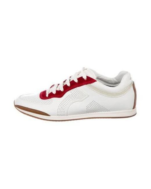 7745c15a36bf2 Ferragamo - White Leather   Suede Sneakers for Men - Lyst ...