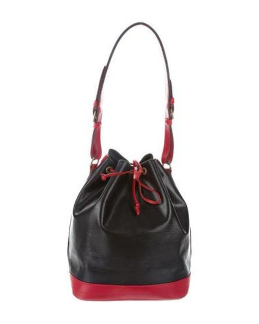 826995f59aed Louis Vuitton - Black Bicolor Epi Noe Gm - Lyst ...
