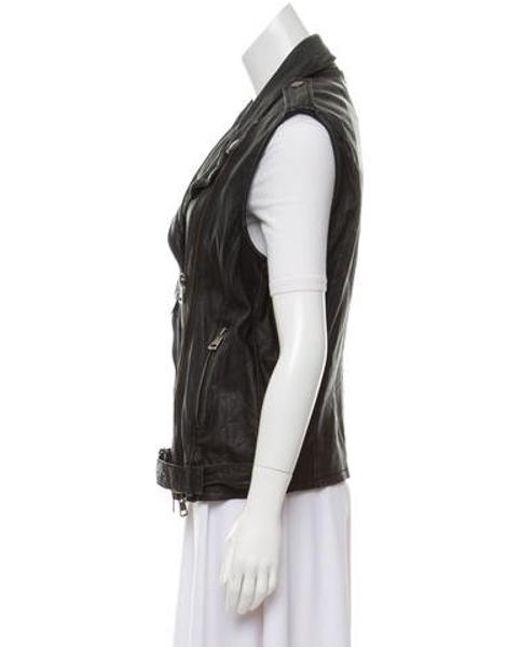 d09f1801aee8 ... R13 - Black Notch-lapel Leather Vest - Lyst ...