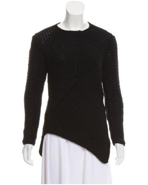 f874441749 Narciso Rodriguez - Black Cashmere Heavy Knit Sweater - Lyst ...
