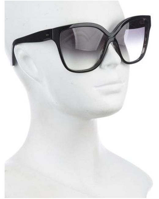 fcd743d60445 ... Dita - Black Gradient Oversize Sunglasses - Lyst