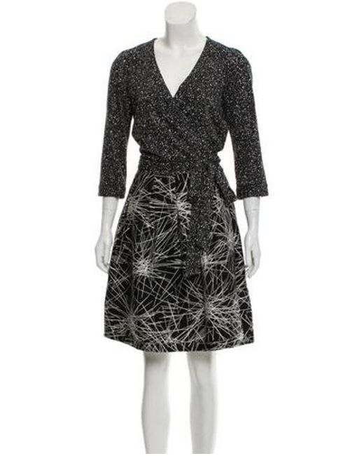 b9cf1d6499495 Diane von Furstenberg - Black Jewel Printed Dress - Lyst ...