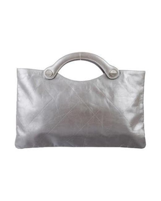 Chanel - Metallic Quilted Handle Bag - Lyst ... 2c7acda23ee3a