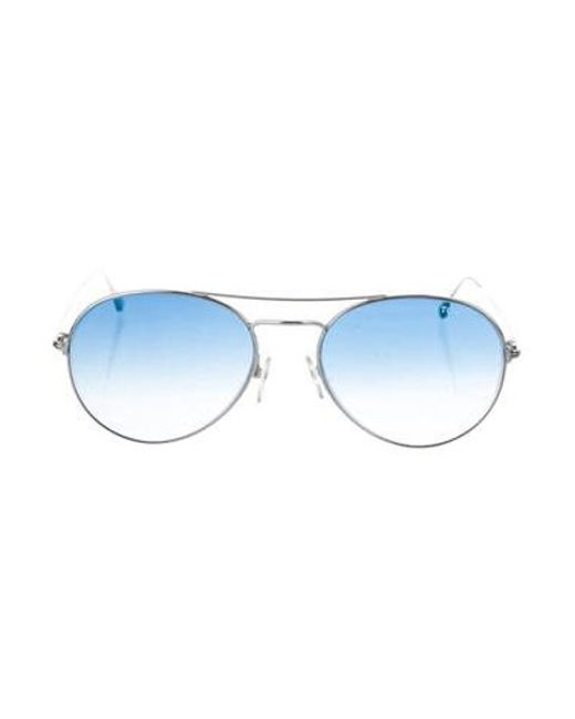 e2b82119df Tom Ford - Metallic Gradient Ace Sunglasses Silver for Men - Lyst ...