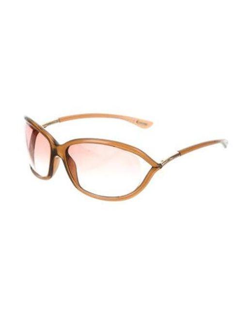 baacf49550 ... Tom Ford - Metallic Jennifer Tinted Sunglasses Brown - Lyst ...