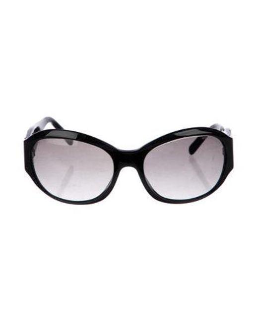 2779191862c1 Chanel - Black Round Cc Sunglasses - Lyst ...