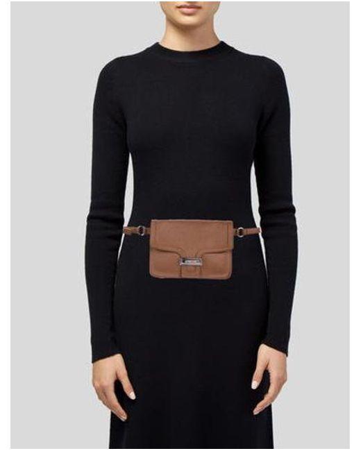 adb070dbbf03 ... Michael Kors - Metallic Leather Waist Bag Cognac - Lyst ...