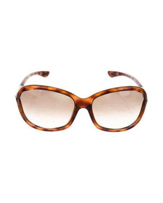 6bad7a77f52 Tom Ford - Brown Jennifer Tortoiseshell Sunglasses - Lyst ...