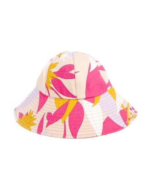 a1e44180838 Emilio Pucci - Printed Bucket Hat W  Tags Multicolor - Lyst ...
