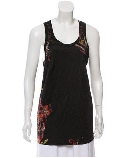 Jean Paul Gaultier - Black Printed Sleeveless Top W/ Tags - Lyst