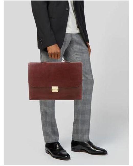 16151e1bb356 ... Bottega Veneta - Natural Embossed Leather Briefcase Brown for Men - Lyst  ...