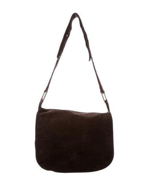 bf400b7c0b1f Bottega Veneta - Metallic Suede Shoulder Bag Brown - Lyst ...