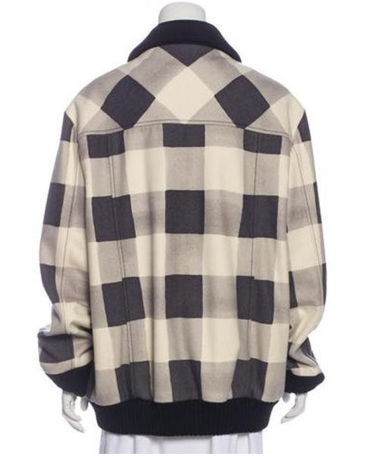 d382c33e55c ... Boutique Moschino - Gray Gingham Zip-up Jacket Grey - Lyst