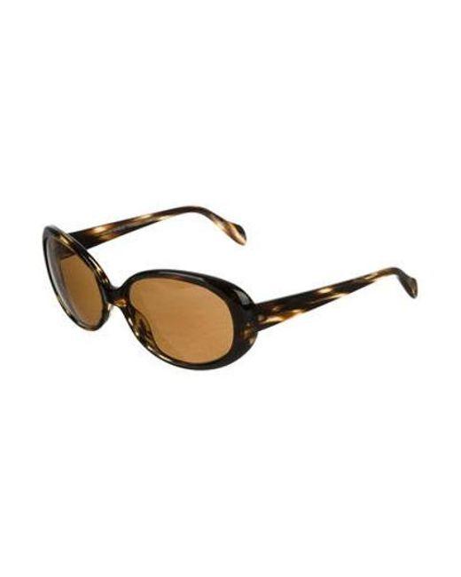 9d9fc3bbc684 ... Oliver Peoples - Metallic Alyssia Tinted Sunglasses Black - Lyst ...