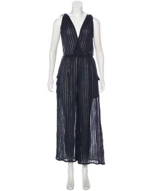 Ulla Johnson - Blue Tallis Wide-leg Jumpsuit W/ Tags Navy - Lyst