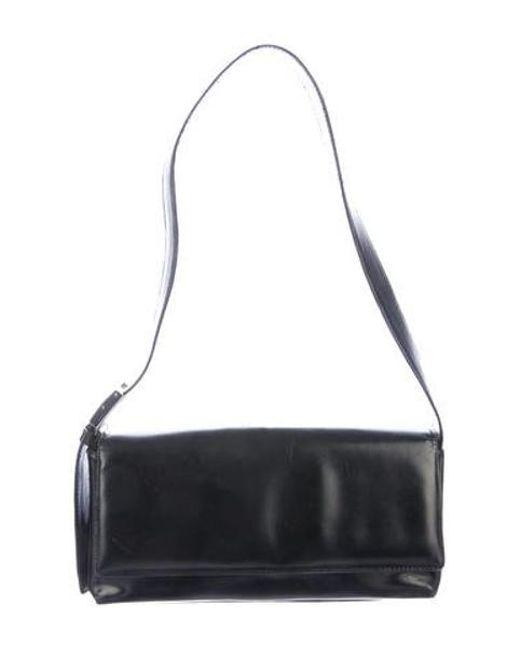 bfb67b020093 Ferragamo - Metallic Smooth Leather Shoulder Bag Black - Lyst ...
