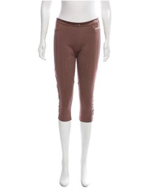 0ac9f4387f6af Adidas By Stella McCartney - Purple Mesh Accented Crop Leggings - Lyst ...