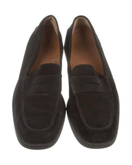 2dc8ec4ddd5 ... Lyst Tod s - Black Suede Penny Loafers for Men ...