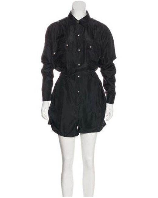 17a0bd10bb8c Faith Connexion - Black Silk Long Sleeve Military Romper W  Tags - Lyst ...