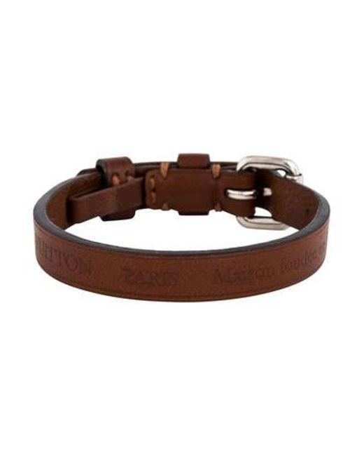 Lyst Louis Vuitton Leather Wrap Bracelet Silver In Metallic