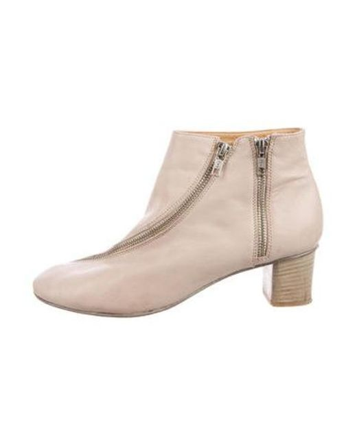 9c56531860cb Acne - Natural Leather Round-toe Ankle Boots Tan - Lyst ...