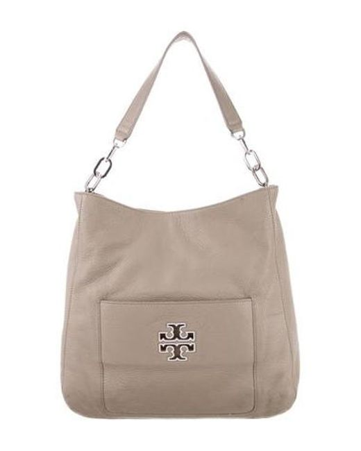 fea2416af8d8 Tory Burch - Metallic Quinn Leather Bag Beige - Lyst ...