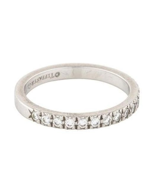 8786ea243a2f Tiffany   Co - Metallic Novo Platinum Diamond Wedding Band - Lyst ...
