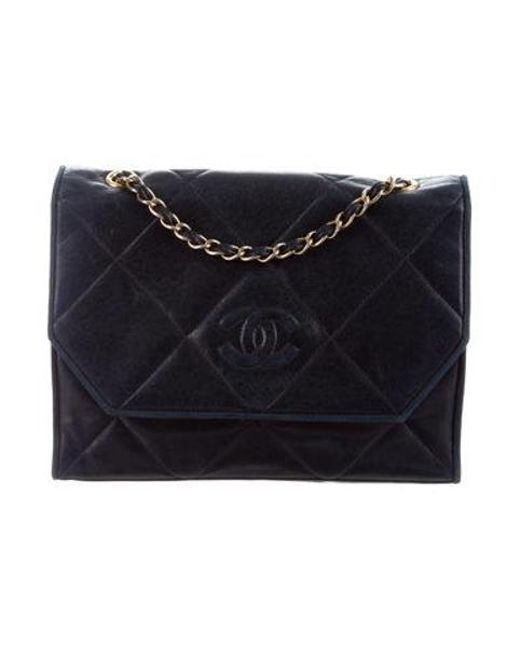 1fd8a0d8d591 Chanel - Metallic Lambskin Cc Flap Bag Navy - Lyst ...