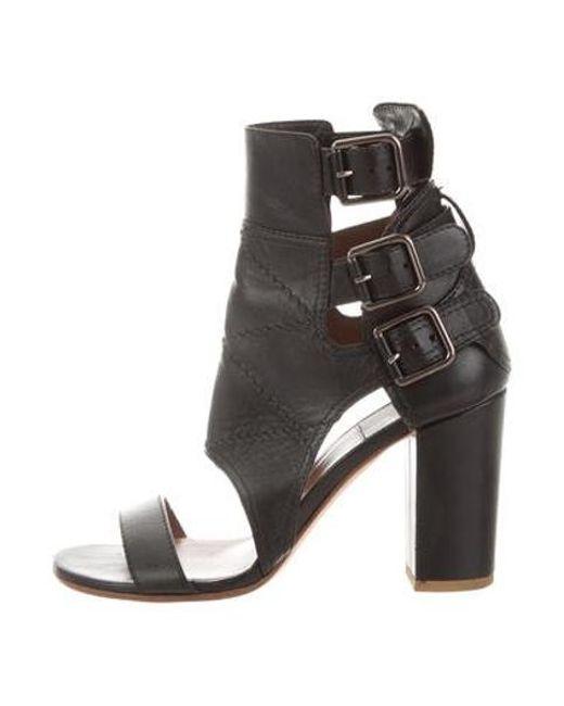 8c8df370bb0 Laurence Dacade - Metallic Leather Mid-heel Sandals Black - Lyst ...