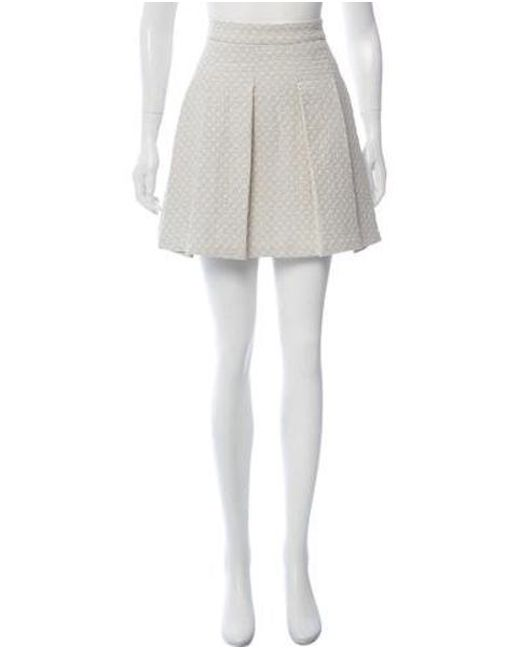 e6b217fb7 10 Crosby Derek Lam - White Matelassé A-line Skirt - Lyst ...