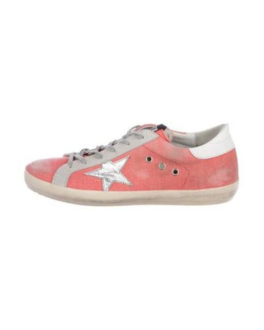 7726e8383e25 Golden Goose Deluxe Brand - Metallic Canvas Lace-up Sneakers Pink - Lyst ...