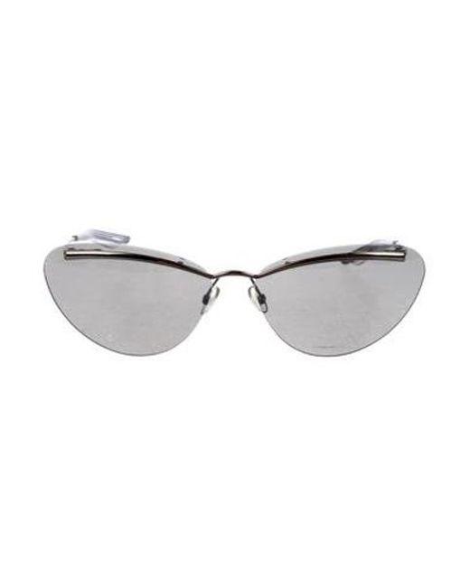 047c6bbc780f Dior - Metallic Rimless Tinted Sunglasses Silver - Lyst ...