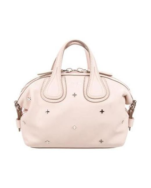 3618d0c70251 Givenchy - Metallic Mini Leather Nightingale Satchel Pink - Lyst ...