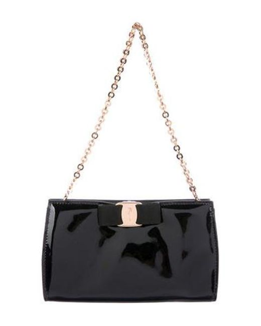47383ddfe2c6 Ferragamo - Metallic Miss Vara Bow Bag Black - Lyst ...