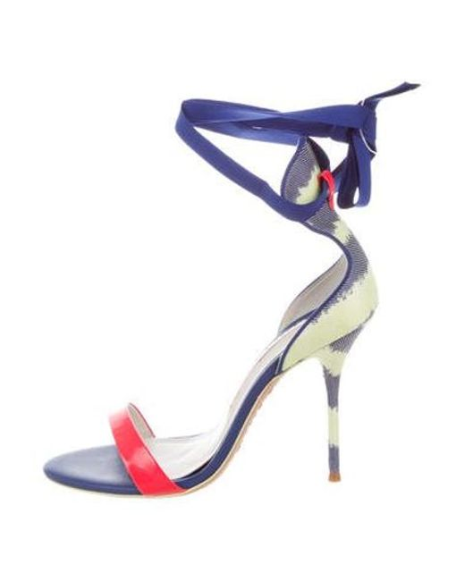56e26a45576 Sophia Webster - Pink Patent Wrap-up Sandals - Lyst ...