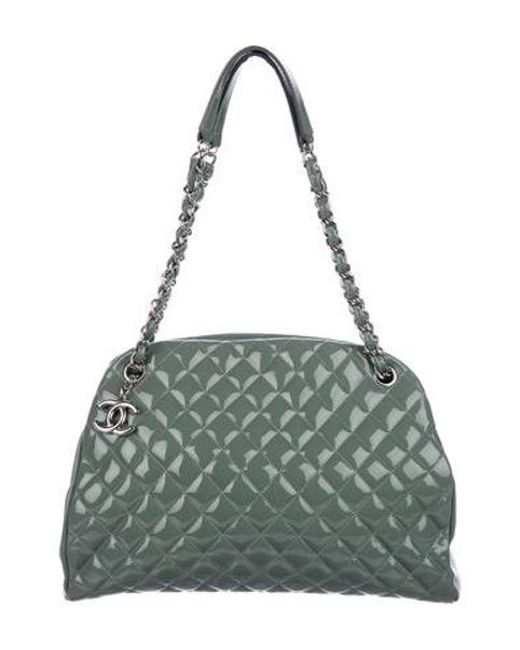 e7363f575316 Chanel - Metallic Just Mademoiselle Large Bowler Bag Silver - Lyst ...