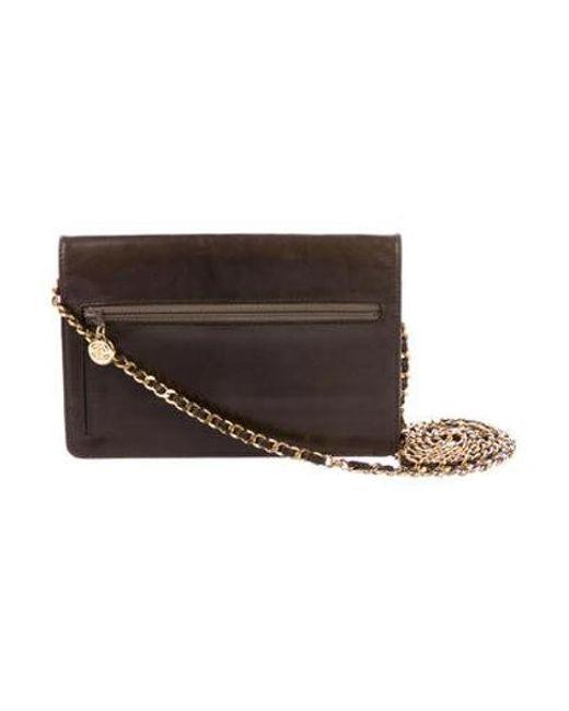 29cecab326cd0d ... Chanel - Metallic Vintage Timeless Wallet On Chain Gold - Lyst