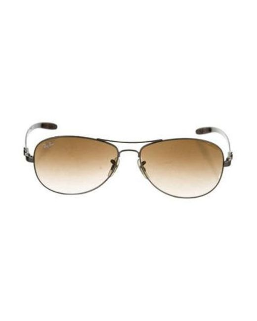 9b472b8730 Ray-Ban - Metallic Polarized Aviator Sunglasses Silver for Men - Lyst ...