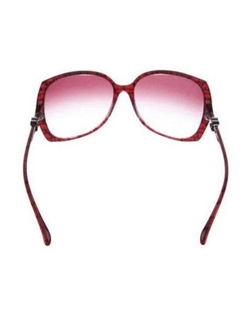 177064cfa4e3 ... Chanel - Metallic Square Signature Sunglasses Silver - Lyst ...