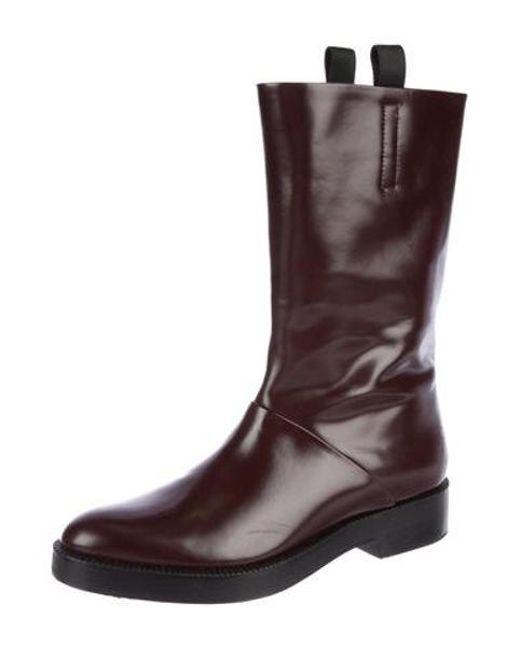 fc3b4008c3fe ... Alexander Wang - Black Patent Leather Mid-calf Boots - Lyst ...