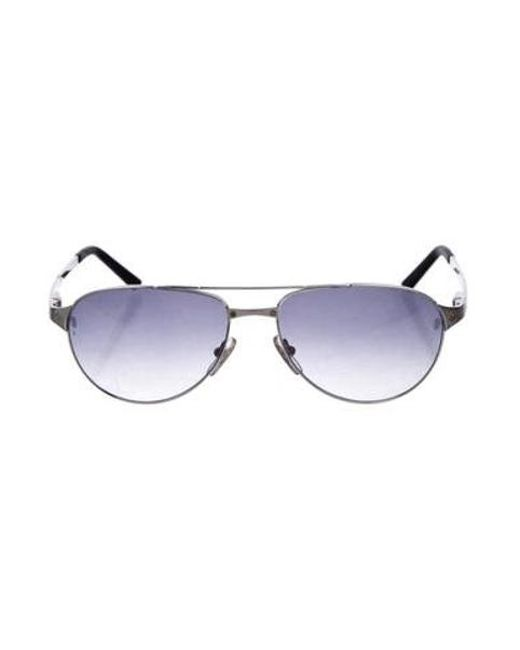 68a2776798 Cartier - Metallic Santos-dumont Tinted Sunglasses Silver - Lyst ...