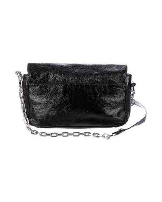 ba97839485f ... Tory Burch - Metallic Patent Leather Crossbody Bag Black - Lyst