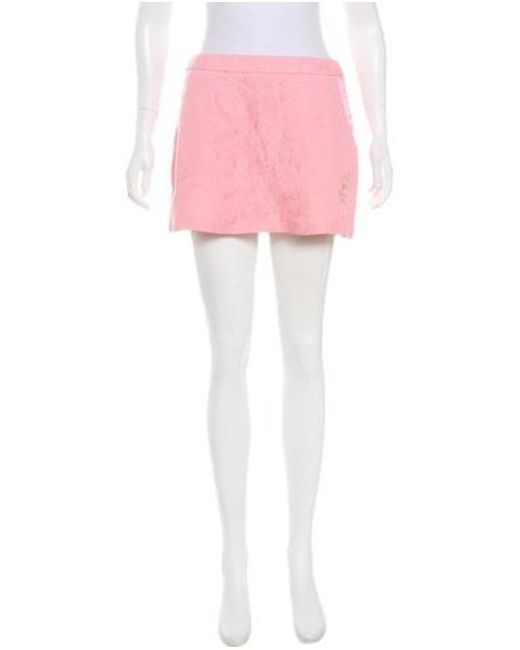 Lyst Matthew Williamson Patterned Mini Skirt In Pink Stunning Patterned Mini Skirt